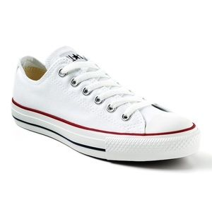 Converse women's white canvas low NWT and Box sz 8